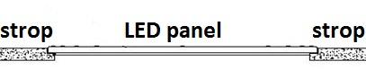 LED panel podhledový