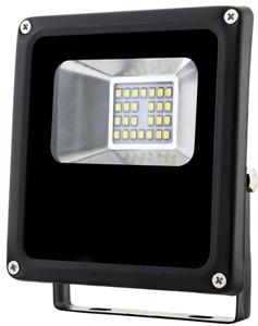 Schwarz LED Fluter 10W SMD Warmweiß