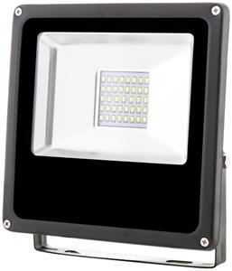 Schwarz LED Fluter 20W SMD Warmweiß