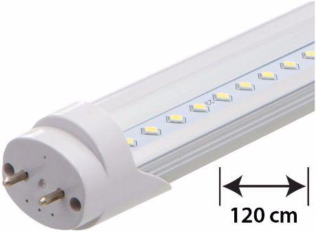 LED Leuchtstoffröhre 120cm 18W durchsichtige Abdeckung Tageslicht