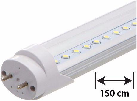 LED Leuchtstoffröhre 150cm 22W durchsichtige Abdeckung Tageslicht