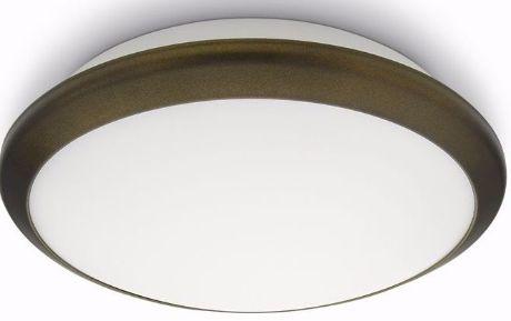 Philips LED moderne Deckenleuchte Denim bronzene 1x4.5W - 30940/06/16