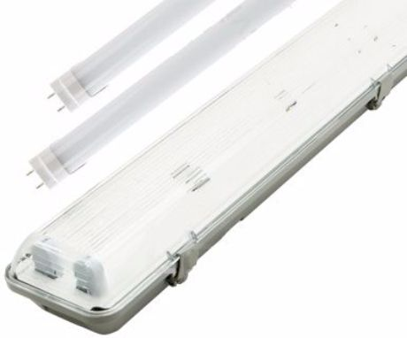 LED Feuchtraumleuchte 120cm + 2x LED Leuchtstoffröhre Kaltweiß
