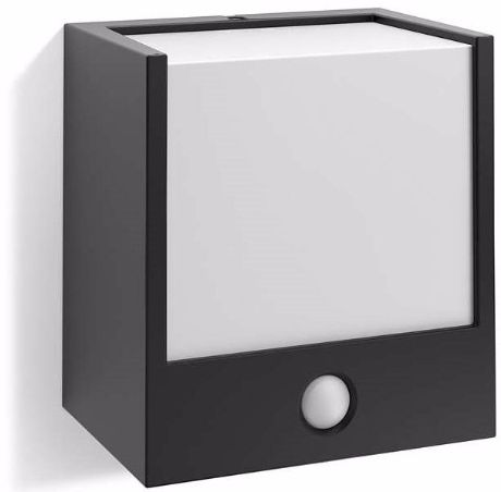 Macaw Außenwandleuchte schwarz mit Sensor 1x3W - 17317/30/16