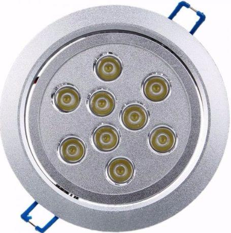 LED Einbaustrahler 9x 1W Warmweiß