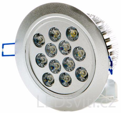 LED Einbaustrahler 12x 1W Kaltweiß