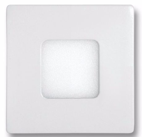 Weißes LED Einbaupanel 90 x 90mm 3W Tageslicht