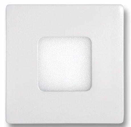 Weißes LED Einbaupanel 90 x 90mm 3W Kaltweiß