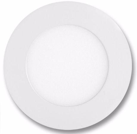 Weißes rundes LED Einbaupanel 120mm 6W Tageslicht