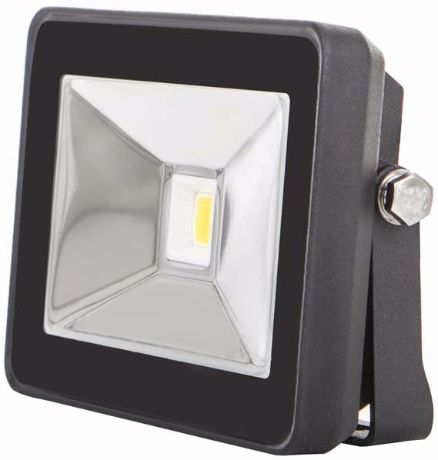 Schwarz LED Fluter 10W SLIM Tageslicht