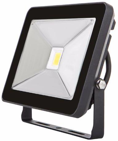 Schwarz LED Fluter 30W SLIM Tageslicht
