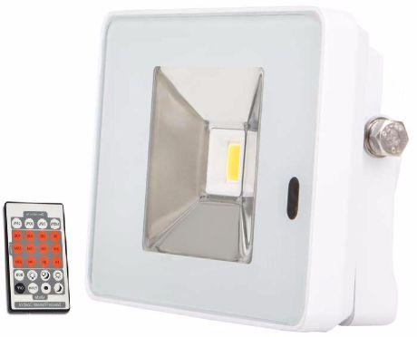 Weißer LED Fluter mit Bewegungsmelder 10W SLIM Tageslicht