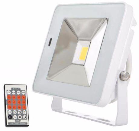 Weißer LED Fluter mit Bewegungsmelder 20W SLIM Tageslicht
