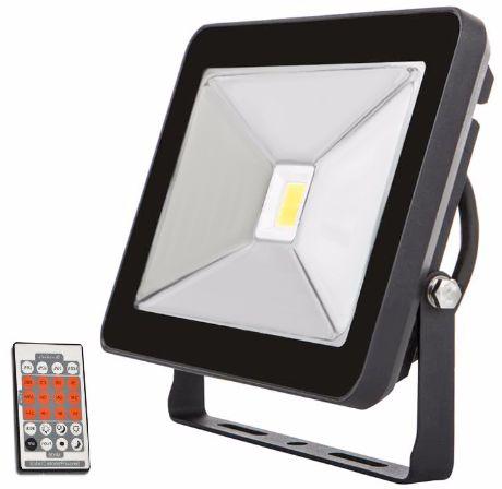 Schwarz LED Fluter mit Bewegungsmelder 30W SLIM Tageslicht
