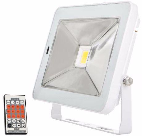 Weißer LED Fluter mit Bewegungsmelder 50W SLIM Tageslicht
