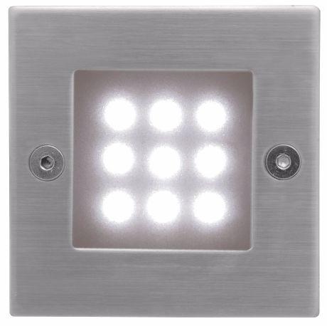 Eingebaute Außenleuchte LED 70 x 70mm Kaltweiß
