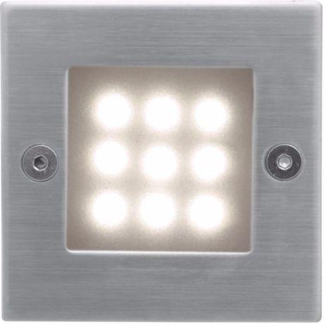 Eingebaute Außenleuchte LED 70 x 70mm Warmweiß