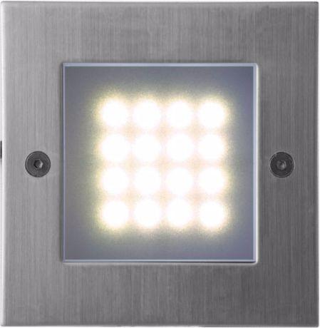 Eingebaute Außenleuchte LED  105 x 105mm Warmweiß