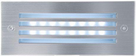 Eingebaute Außenleuchte LED mit Gitter 70 x 170mm Kaltweiß