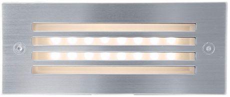 Eingebaute Außenleuchte LED mit Gitter 70 x 170mm Warmweiß