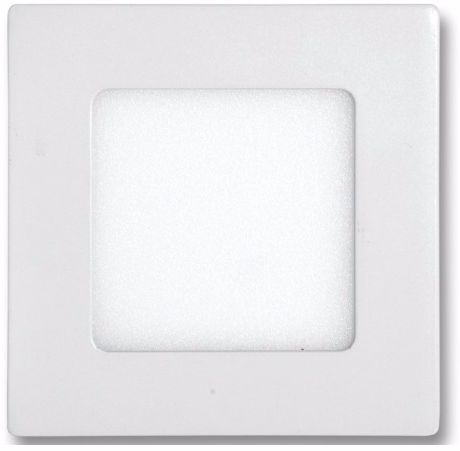 Weißes LED Einbaupanel 120 x 120mm 6W Warmweiß dimmbar