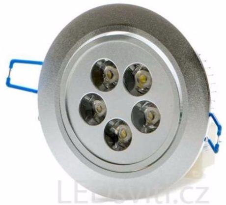 LED Einbaustrahler 5x 1W Kaltweiß