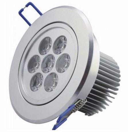 LED Einbaustrahler 7x 1W Warmweiß