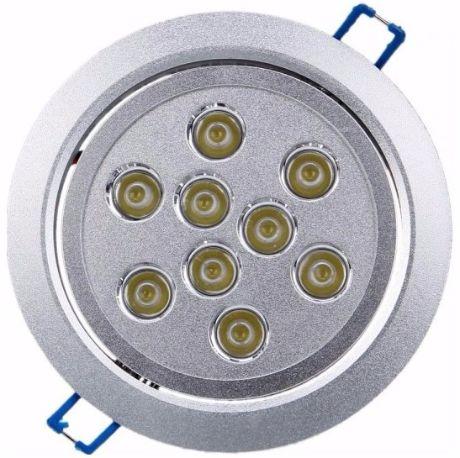 LED Einbaustrahler 9x 1W Kaltweiß