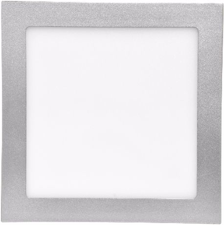 Silber LED Einbaupanel 155 x 155 mm 15W Warmweiß