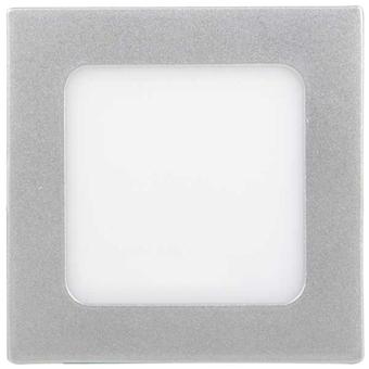 Silber LED Einbaupanel 120 x 120 mm 6W Warmweiß