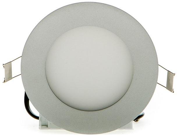 Silber rundes LED Einbaupanel 120mm 6W Tageslicht dimmbar
