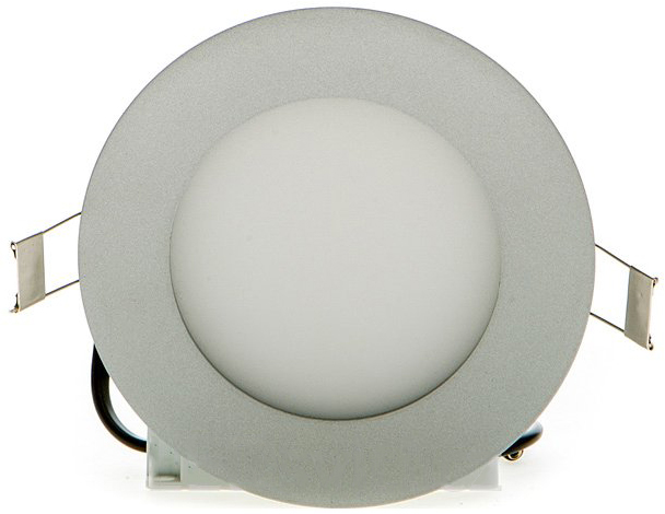 Silber rundes LED Einbaupanel 120mm 6W Warmweiß dimmbar