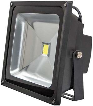 Schwarz LED Fluter 50W Tageslicht