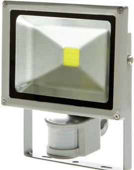 LED Strahler 20W mit Bewegungsmelder Tageslicht