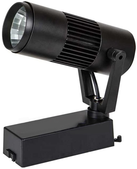 Schwarzer LED Schienenstrahler 10W Warmweiß