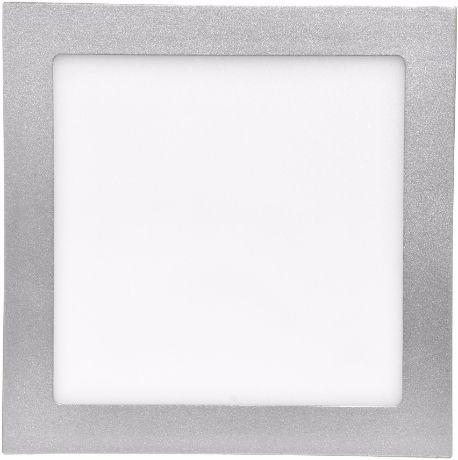 Silber LED Einbaupanel 175 x 175mm 12W Warmweiß
