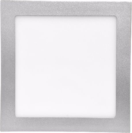 Silber LED Einbaupanel 225 x 225mm 18W Warmweiß