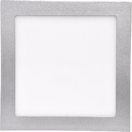 Silber LED Einbaupanel 225 x 225mm 18W Tageslicht