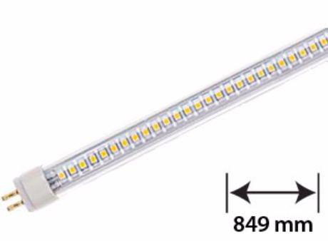LED Leuchtstoffröhre T5 G5 849mm 8,5W durchsichtige Abdeckung Tageslicht für EVG