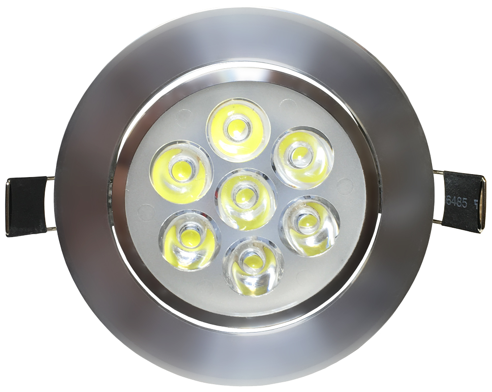 LED Einbaustrahler 7x 1W Tageslicht