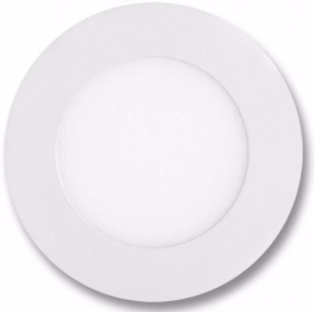 Weißes rundes LED Einbaupanel 120mm 6W Tageslicht dimmbar