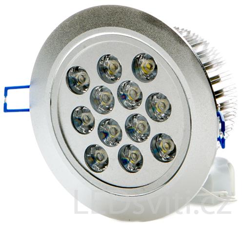 LED Einbaustrahler 12x 1W Warmweiß