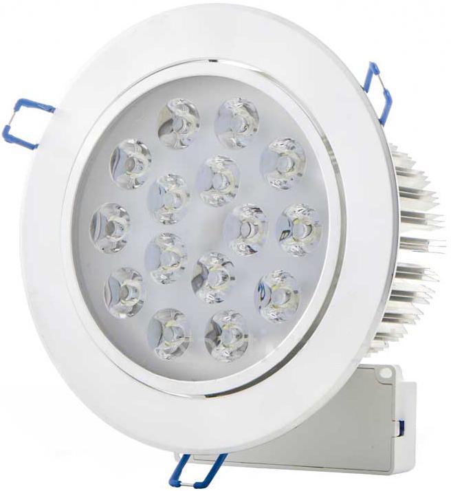 LED Einbaustrahler 15x 1W Warmweiß
