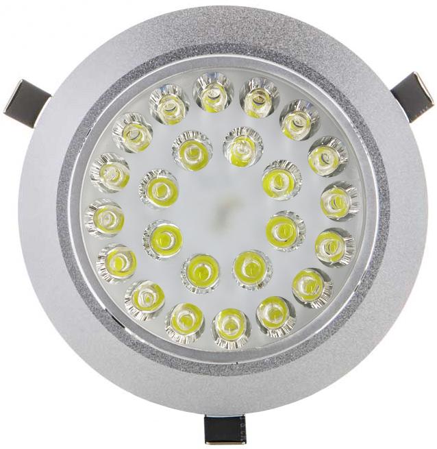 LED Einbaustrahler 24x 1W Warmweiß