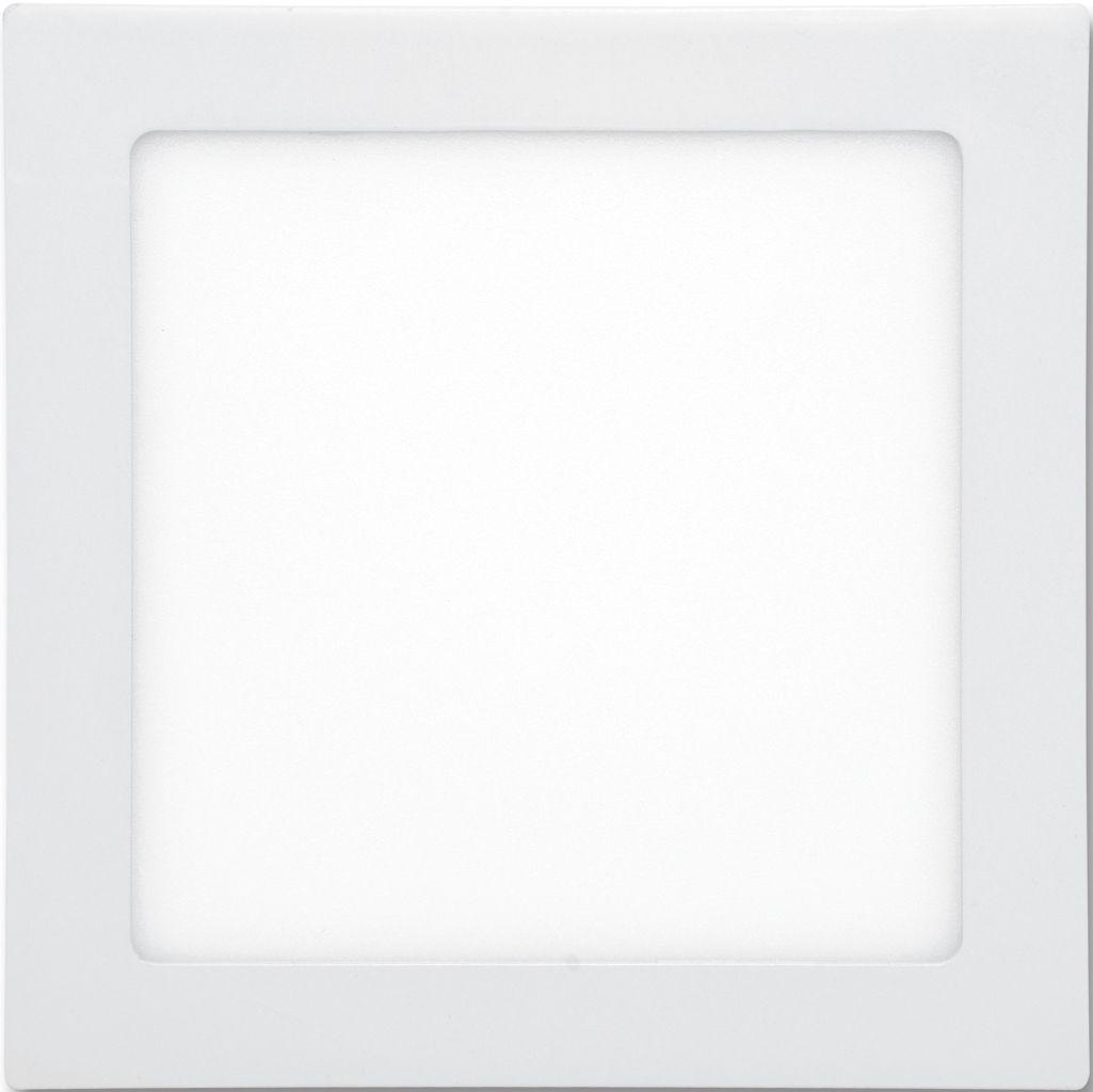 Weißes LED Einbaupanel 225 x 225mm 18W Warmweiß