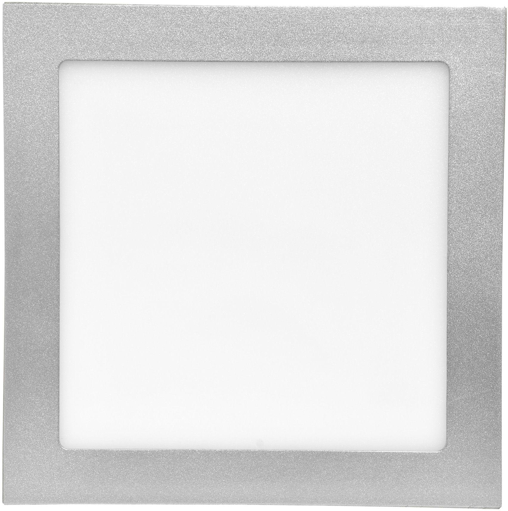 Silber LED Einbaupanel 155 x 155 mm 15W Tageslicht