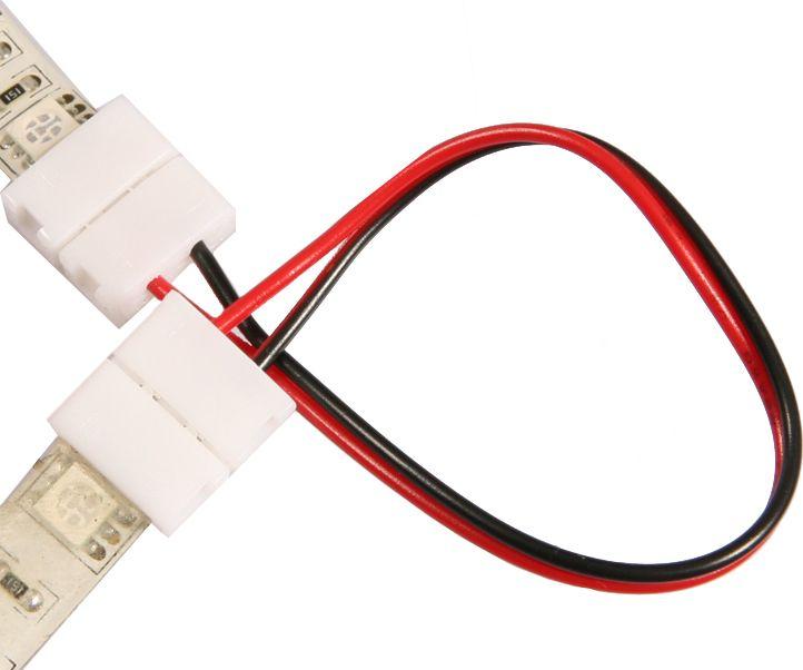 Steckverbinder + Kabel + Steckverbinder für LED Streifen 8mm