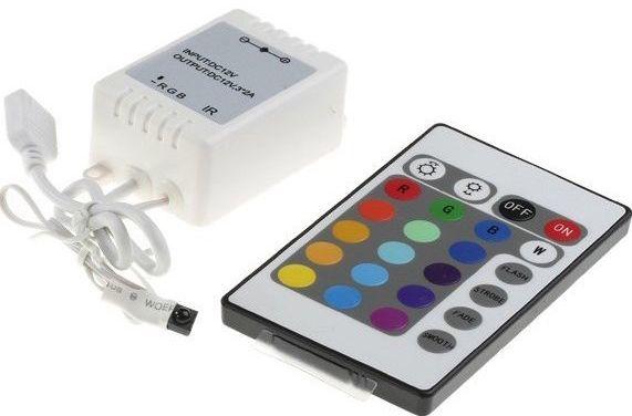 RGB LED Controller Premium Line mit IR Fernbedienung - 24 Tasten