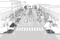 Pouliční osvětlení silnic a chodníků
