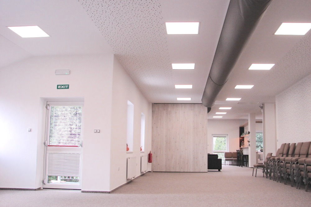 LED osvětlení Církev Třinec 2